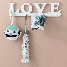 ФОТО vintage white love hook door clothes robe key holder hat hanger wall home tools