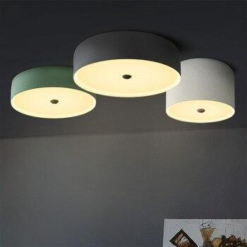 Скандинавский светодиодный потолочный светильник, круглый светильник для спальни, простой современный железный светильник для ресторана, ...