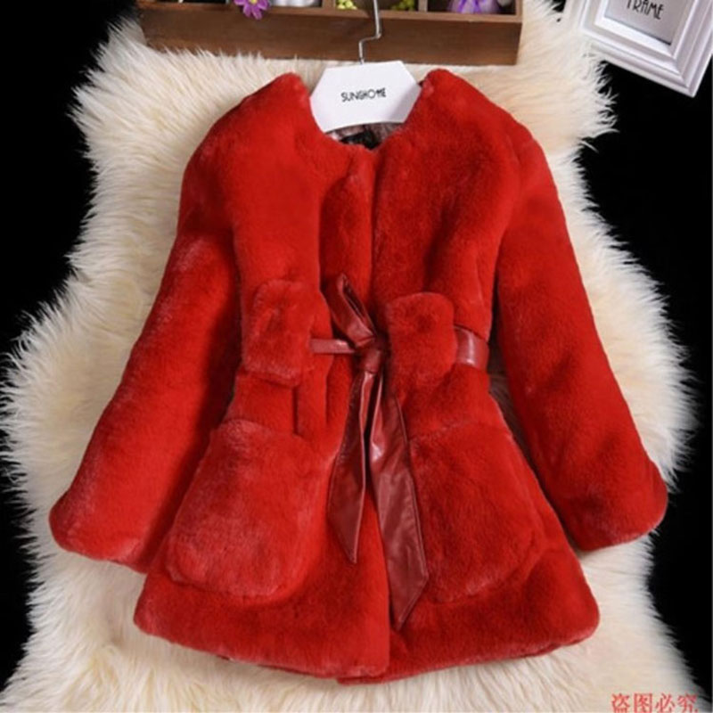 2017 Fashion Elegant Faux Fur Jackets For Newborn Baby Girl Autumn Warm Coat Outerwear Toddler Girls Clothing Child Cloth 3-10T недорого