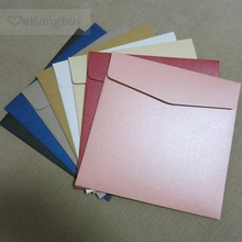 25pcs 165x165mm 250g Thicken Pearl Color Paper Invitation Cards Gift Envelopes