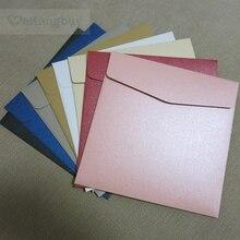 Cartes dinvitation en papier perle épais, 25 pièces, enveloppes cadeau 165x165mm 250g