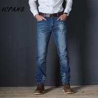 ICPANS Plus Size 44 46 48 Denim Jeans Men Straight Stretch Denim Men Trousers Casual Male Clothes 2019 Autumn jeans homme