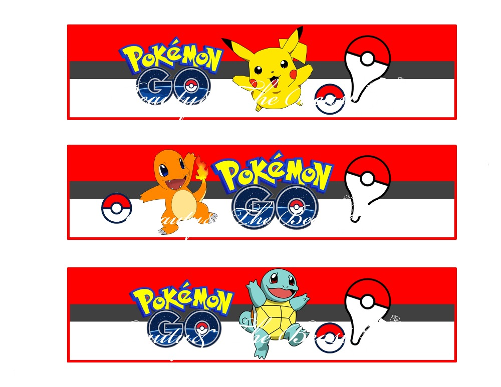 Personalised Pokemon Go Pikachu Stickers Birthday Party Sweet Cones Bag Labels