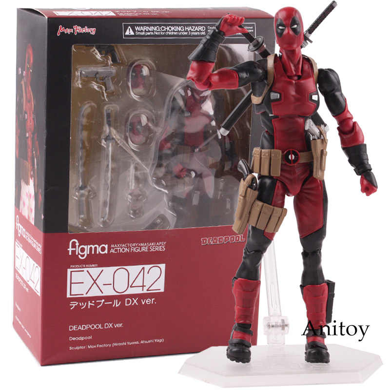 Deadpool Action Figure Figma EX-042 DX Ver. Figura Figma PVC Collectible Modelo Toy 14.5 cm KT4792