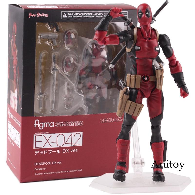 Deadpool Action Figure Figma EX-042 DX Ver. Figura Figma PVC Collectible Modelo Toy 14.5 cm KT4792