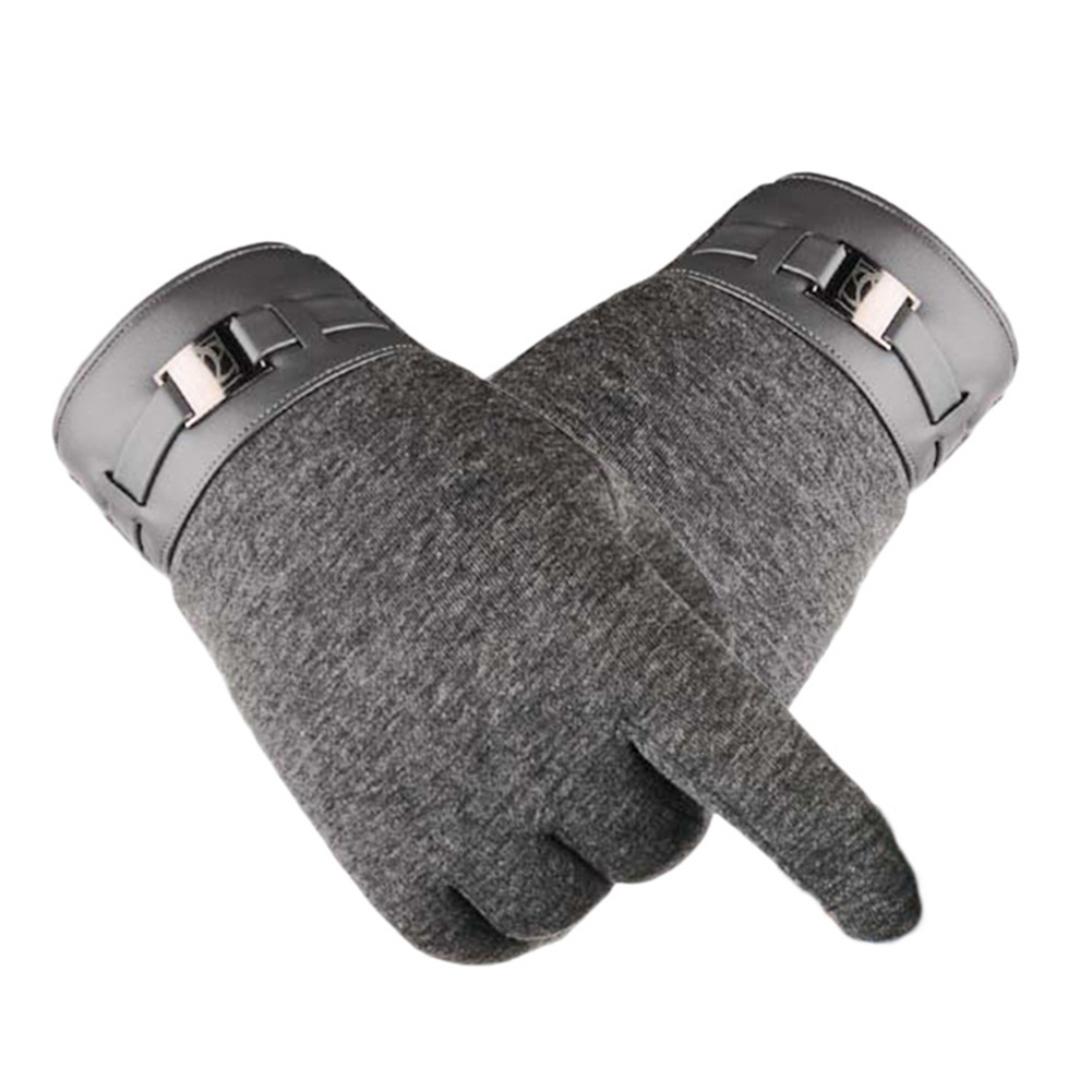 Outdoor Sports Autumn Winter Gloves Men Thicken Warm Cashmere Thermal Mittens Male Touching Screen Gloves For Smart Phone/Ipad