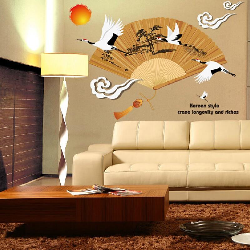 Japanese Fan Wall Decor - Home Decorating Ideas