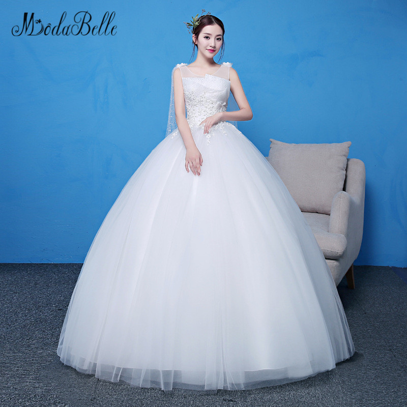Cheap Plus Size Ball Gown Wedding Dresses: Modabelle Cheap Vintage Long Bridal Ball Gown Princess