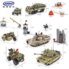 XingBao Army Series Sets Figures Tiger Tank Building Blocks Children Toys SWAT Military(China)