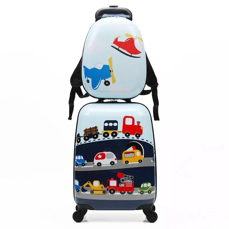 Ragazza di Cute Cartoon Trolley Set Spinner Bambini Anime Trolley Valigie sulla Ruota bambini Studente Borsa Da Viaggio bagaglio A mano-in Bagaglio a mano da Valigie e borse su  Gruppo 1