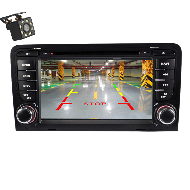 2 din Car radio For Audi A3 2002 2011 2din car multimedia dvd player GPS Navigation stereo For Audi 8P A3 8P1 S3 RS3 Autoradio