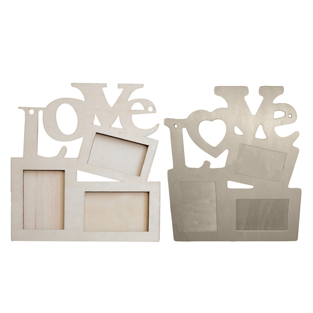 ᗕColgante amor foto Marcos madera Rahmen blanco Bases arte DIY ...