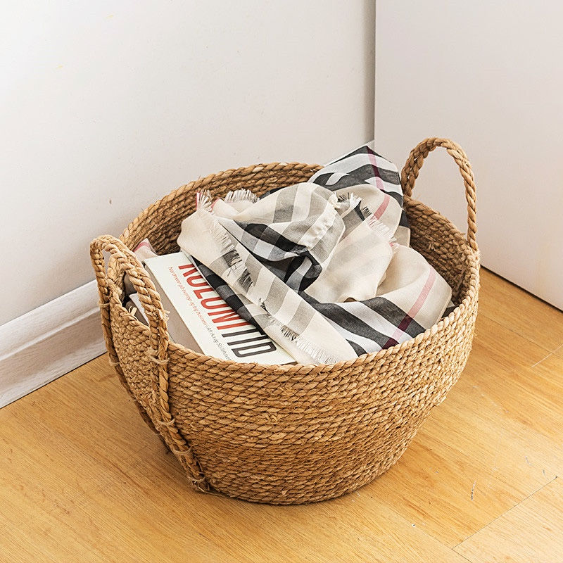 Dirty Laundry Basket Of Clothes For Kids Large Straw Baskets Storage Of Toys Diaper Straw Rope Environmental Hanging Basket