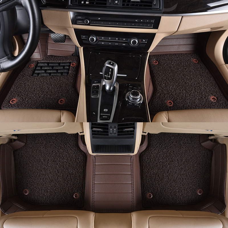 Myfmat custom foot leather CAR floor mats for BMW X1 X3 X4 X5 X6 Z4 X6M M1 M3 X5M free shipping coffee cream grey red two layers in Floor Mats from Automobiles Motorcycles