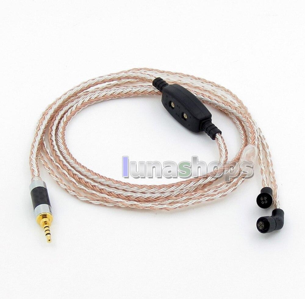 2.5mm 4pole TRRS Balanced 16 Core OCC Silver Mixed Headphone Cable For AKR03 Roxxane JH Audio JH24 Layla Angie AK380 AK2 LN05823 angie queen естественный цвет 16 дюймов