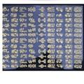 Etiqueta do prego DIY Decoração Ferramentas 108 Pcs 3D de Prata/Ouro Da Arte Do Prego Adesivos Decalques Stamping u61027