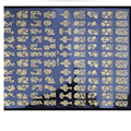 nail sticker DIY Decoration Tools 108Pcs 3D Silver/ Gold Nail Art Stickers Decals Stamping u61027
