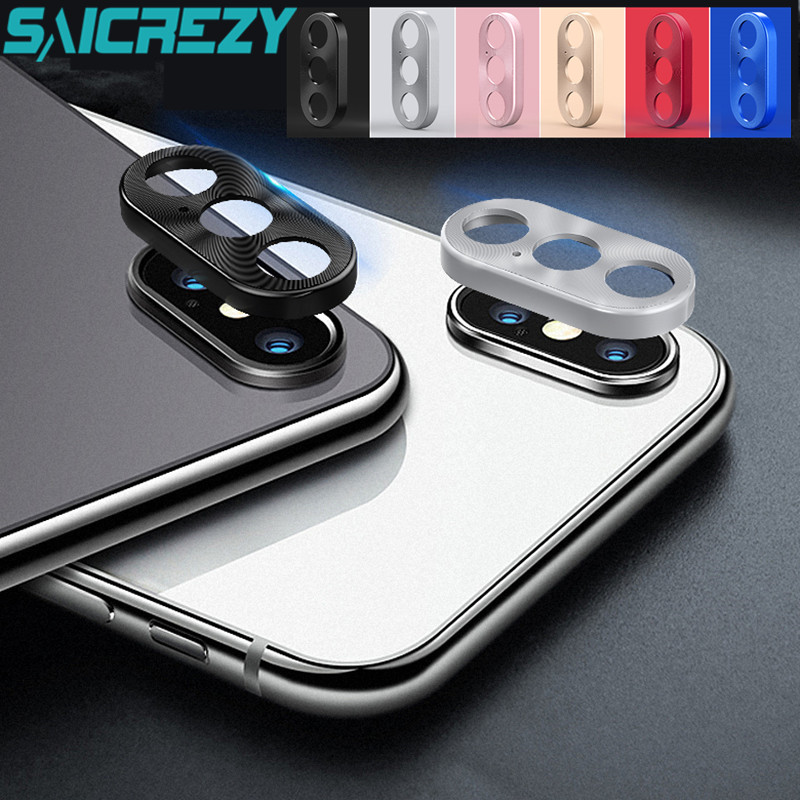 For iPhone X Rear Camera Lens full Protective Ring case Cover Protector For iPhone XS Max XR Metal Case Mobile Phone accessories
