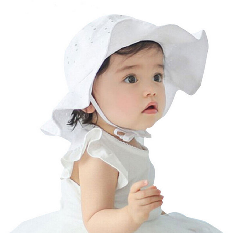 4f96f3a2 Toddler Infant Kids Baby Girls Cap Outdoor Floral Print Newborn Beach Sun  Cap Cotton Wide Brim Floppy Hat-in Hats & Caps from Mother & Kids on ...