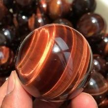 40mm natural quartz red tiger eye crystal healing ball ball home decoration gift drops
