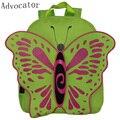 Advocator verde color de oxford bolsos de escuela los niños del cabrito de dibujos animados 3d mariposa chica mochila de viaje mochila escolar para adolescentes