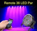 Remote Control 36W 36 LED Stage Light RGB Par Light DMX512 Master Slave LED Flat DJ Equipment Controller Discos KTV Music Light