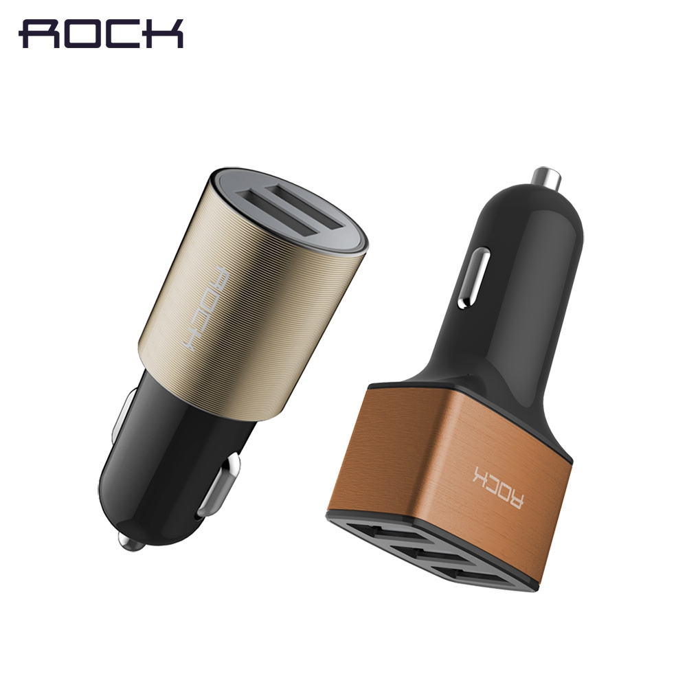 2 USB / 3 USB Car Charger Cigar Lighter <font><b>Adaptor</b></font> 2.1A / 4.8A Fast Charging Universal Mobile Phone Tablet Battery Charger ROCK