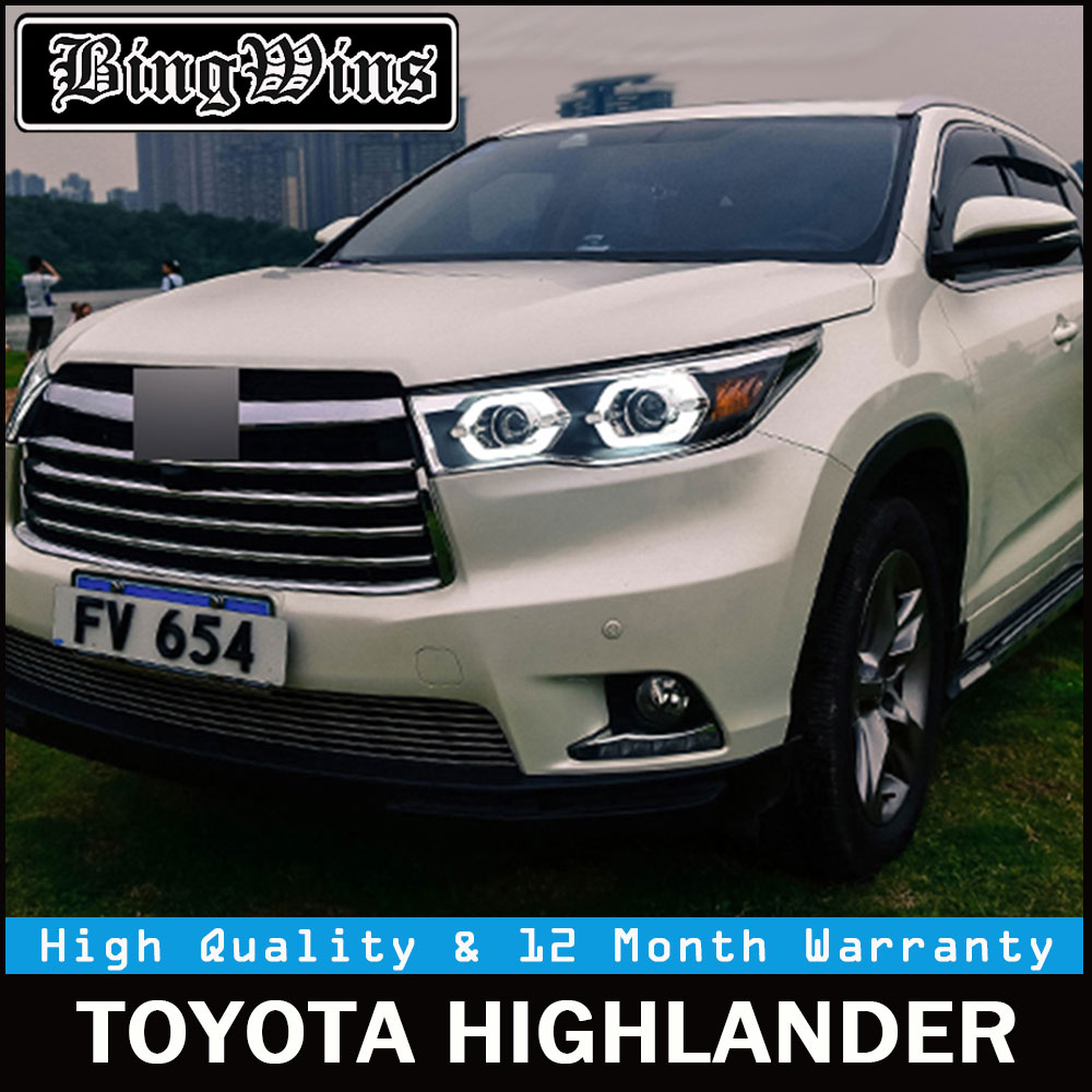 Car Styling For Toyota Highlander Headlights 2017 2016 New Kluger Led Headlight Drl Lens Double Beam H7 Hid Xenon In Light Embly From