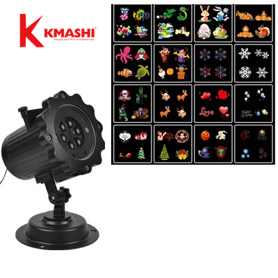 Kmashi 16 PCS Pattern Lens Christmas Led Projector Light Show Outdoor Waterproof for Garden Wall Holiday Party Decorations jennifer taylor home sofa bed hand tufted hand painted and hand rub finished wooden legs 65000 584 859 865