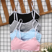 Girls Training Bra Teenage Kids Soft Breathable Cotton Underwear Tops Clothing For Child Teens Summer недорого