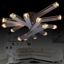 Современный Минималистский Кристалл K9 Лампа Личность Круглый Потолочные Люстры Гостиной Спальня Люстра