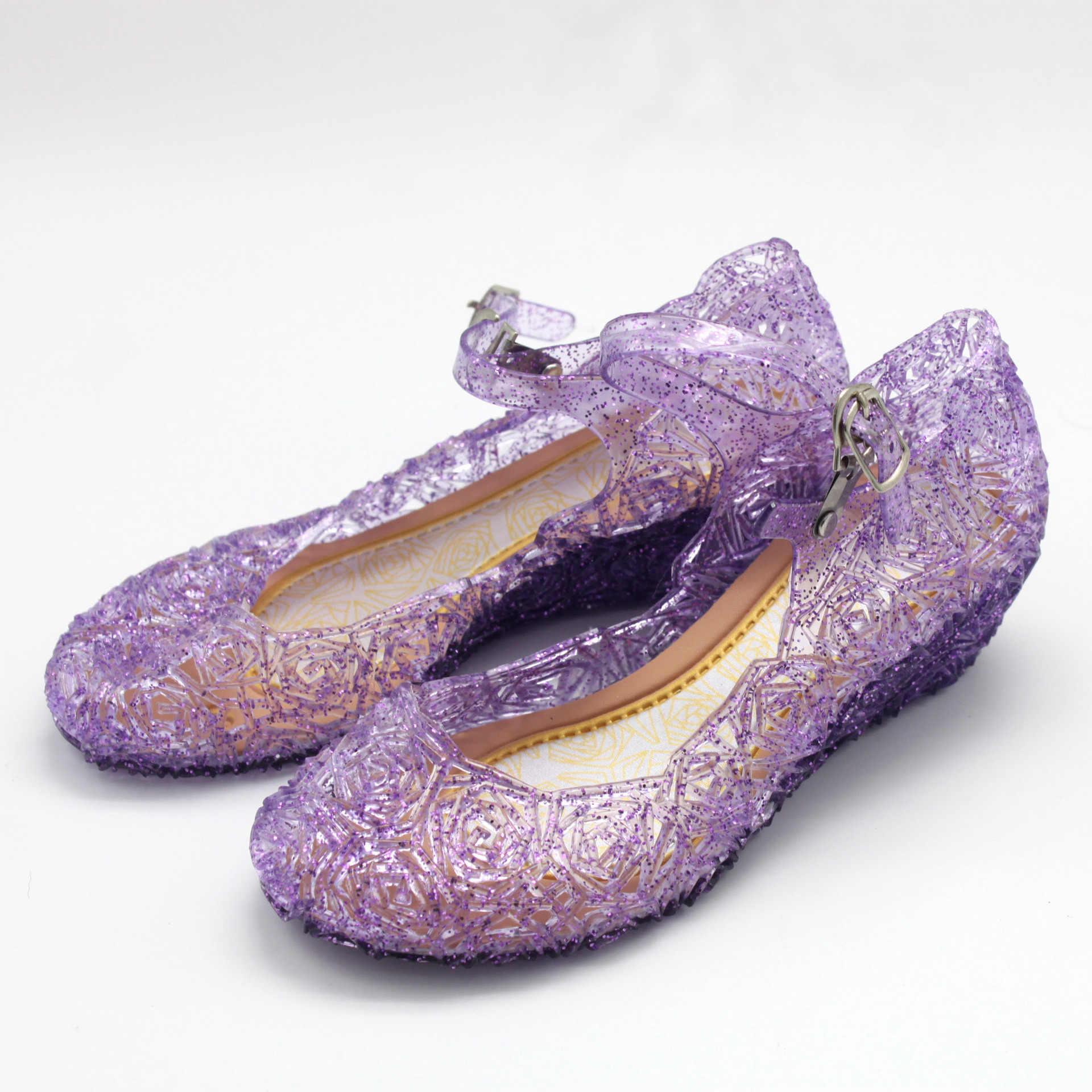 Công Chúa Anna Elsa Giày Giày Cinderella Pha Lê Trang Phục Giày Bé Gái Trang Phục Hóa Trang Xăng Đan Hóa Trang Halloween miễn phí giao hàng