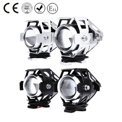 2 Pcs U5 LEVOU Motocicleta Farol de Máximos Transformar Holofotes 3000LM 12 V Alto Brilho Moto Fog Head lamp com interruptor