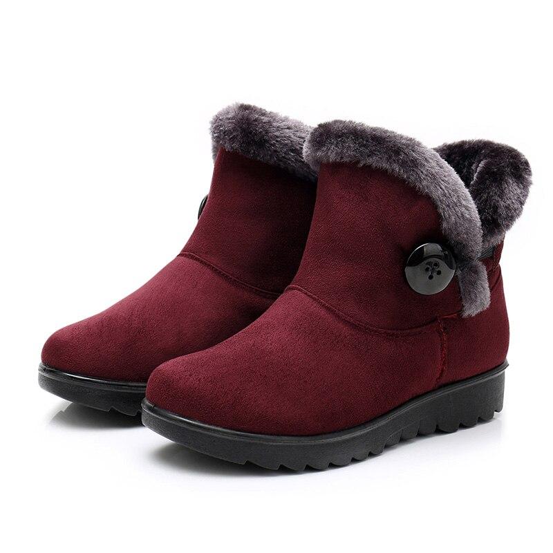 Negro Tobillo Mujer 182red Cálido Botas Invierno Moda 2018 Marrón Grande Para Casual Rojo 182brown Talla Nieve De Zapatos 182black wqAXBzng