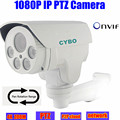 sony cmos 2mp ip security camera 1080p HD ptz pan tilt auto zoom onvif long IR led bullet surveillance outdoor waterproof camera