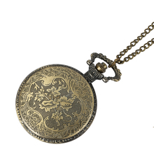 Steampunk Vintage Antique Retro Bronze Train Front Locomotive Engine Railway Quartz Pocket Watch Chain Men Women