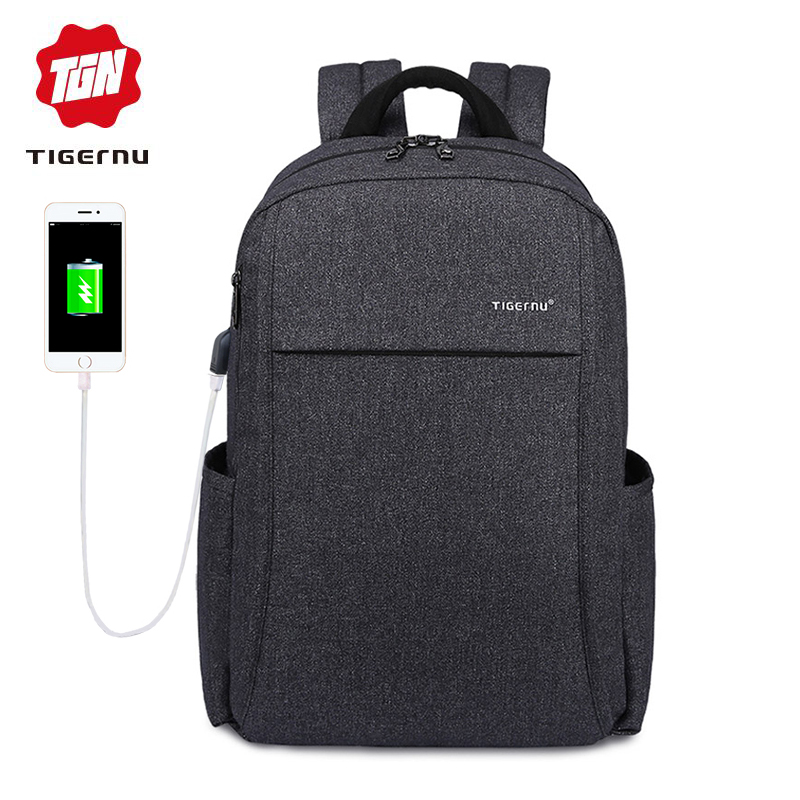 2018 Tigernu Anti thief USB charging 15.6″ laptop Compute backpack for women male Backpacks school Bag for Men Mochila back pack
