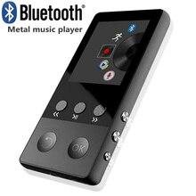 Orijinal Metal Bluetooth MP3 oynatıcı Dahili Hoparlörler HIFI Kayıpsız Spor müzik çalar Kaydedici E kitap FM Radyo Desteği TF Kartı