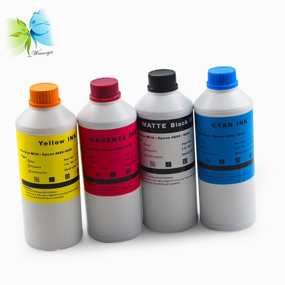 Winnerjet Dye Sublimation ink for cotton fabric for Epson 4800 4880 inkjet printer heat press transfers in Ink Refill Kits from Computer Office