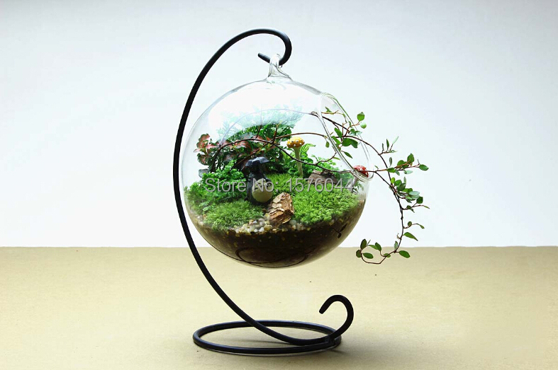 1SET New arrival Hanging Crystal Flower Vase Planter Terrarium Container  Vases Pot Home Wedding Desk Party Decoration G161 - Glass Hanging Planters Reviews - Online Shopping Glass Hanging