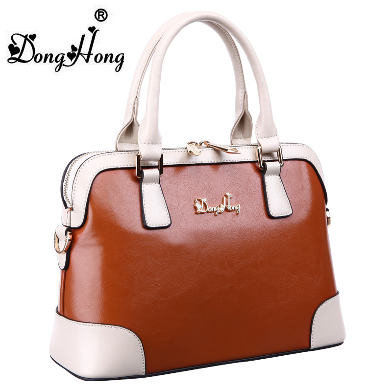 DongHong Genuine leather bags ladies real leather handbags women famous brands designer high quality tote bag Female donghong real cow leather ladies hand bags women genuine leather handbag shoulder bag hign quality designer luxury brand bag