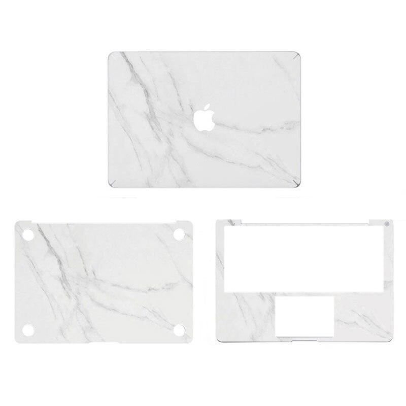White Marble Grain Full Body Cover Laptop Decal Sticker Case For