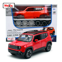 Maisto 1:24 2015 Jeep Renegade City suvs JEEP orange Assembly DIY Diecast Model Car Toy New In Box Free Shipping 39282