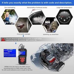 Image 5 - KONNWEI KW850 OBD2 السيارات ماسح ضوئي تشخيصي ODB2 تحقق محرك السيارات السيارات رمز القارئ الأسود العالمي سيارة obd أداة تشخيصية