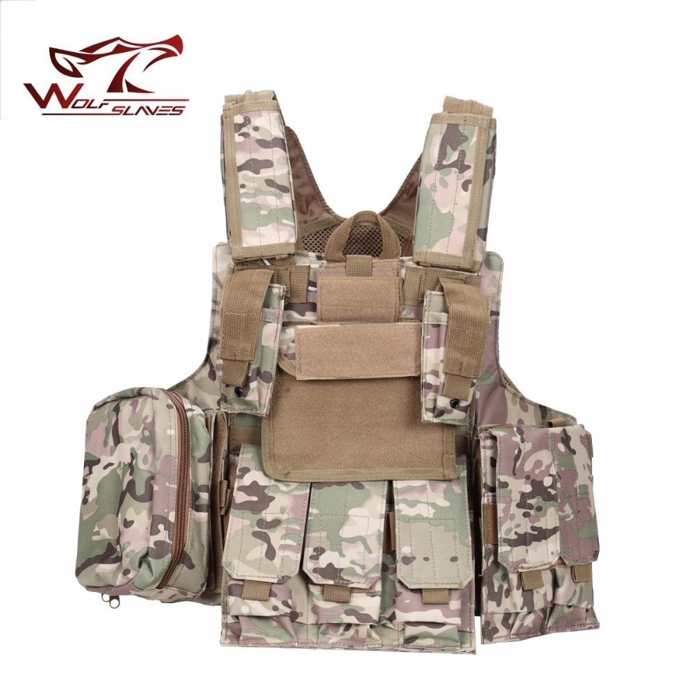Tactical Vest Molle Combat Strike  Carrier Vest Steel Wire Vest Outdoor Military Equipment 900D Oxford