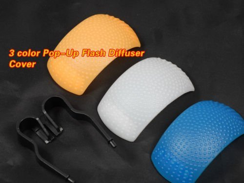wholesale ! 100% NEW! 3 color Pop-Up Flash Diffuser Cover for Nikon canon pentax