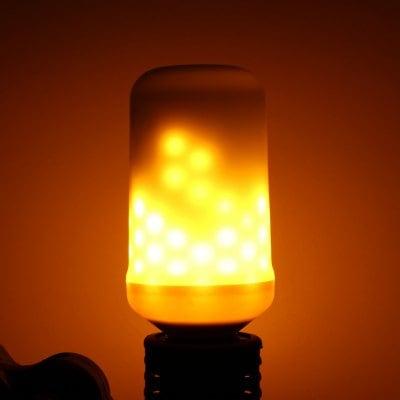 E27 Flame Flickering Breathing General Modes Halloween Decoration LED Lights Bulb AC 85 - 265V - WARM WHITE E27
