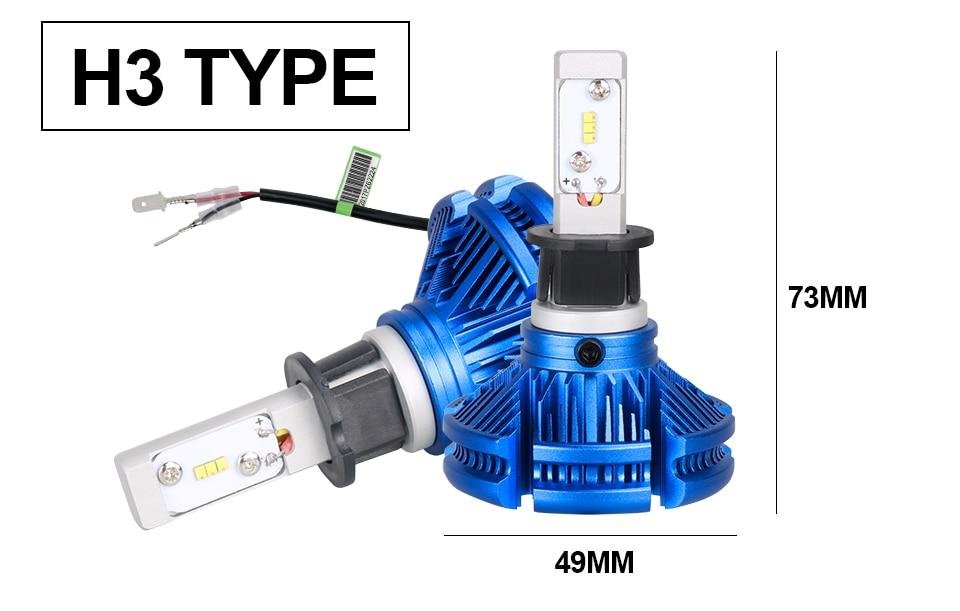 H4 Led CSP Chips H7 LED Headlights Auto-styling Led Car Bulb H1 H11 Fog Lamp Fanless (13)