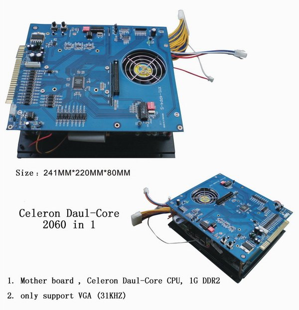 VGA Multi games 2100 in 1 game board New Mother board,Celeron Daul-Core CPU,1G DDR2, VGA high resolution for arcade game machine saint petersburg board game cards game 2 5 players family toys game for children with parents indoor games