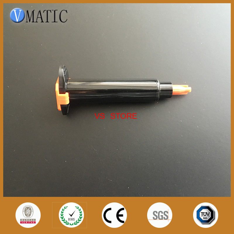Livraison gratuite seringue de distribution de colle noire 3cc/3 ml seringue pneumatique avec Piston/couvercle d'extrémité et bouchon